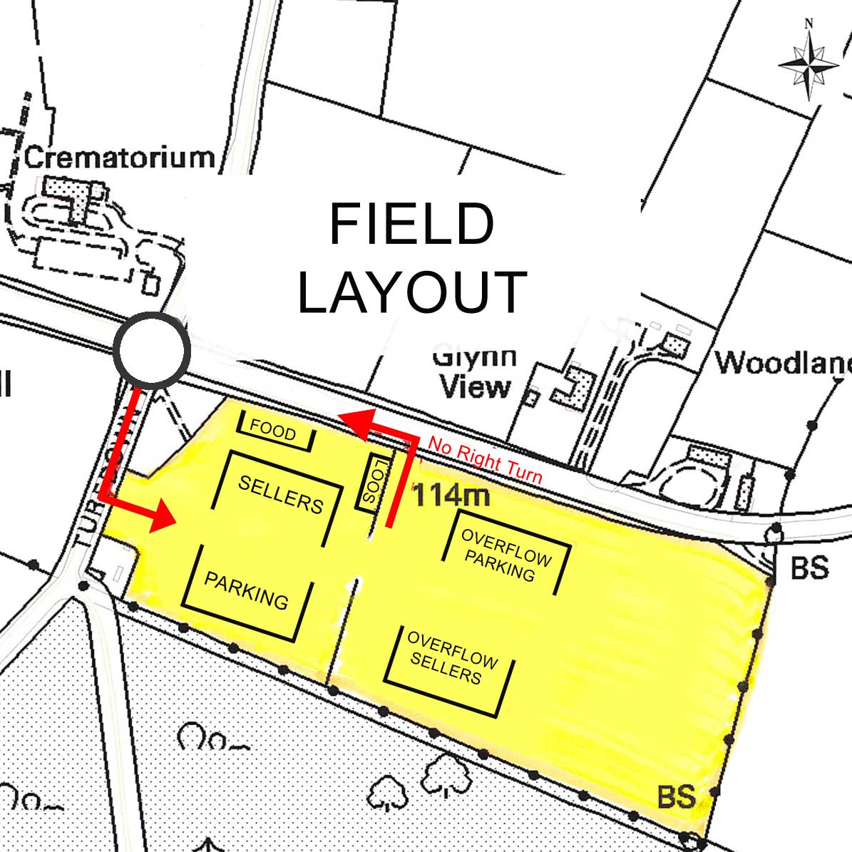 Lanhydrock CarBoot Field layout